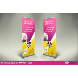 Roll Up Banner  80 x 200 cm Full Color Printed Cyprus Printing Center